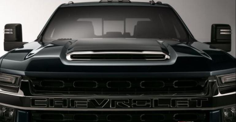 Chevy gave sneak peek of Silverado HD pickup at Las Vegas dealer and media event
