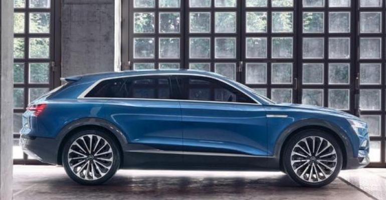 Automakerrsquos eTron at heart of Audi Electric Vehicle Tribe