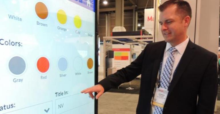 Hansen demos Manheim Express on giant smartphone screen simulator