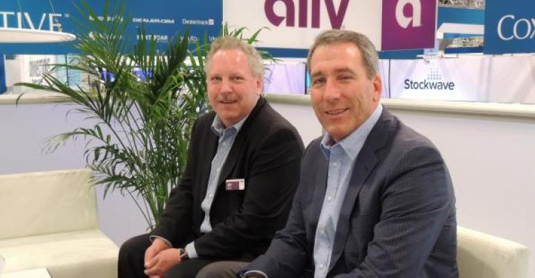 Russi right and Danford at Allyrsquos exhibit at 2018 NADA convention and expo