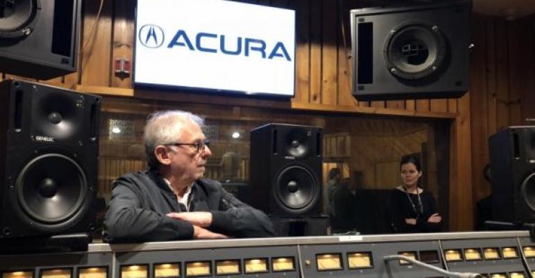 Scheiner at Power Station recording studio in New York