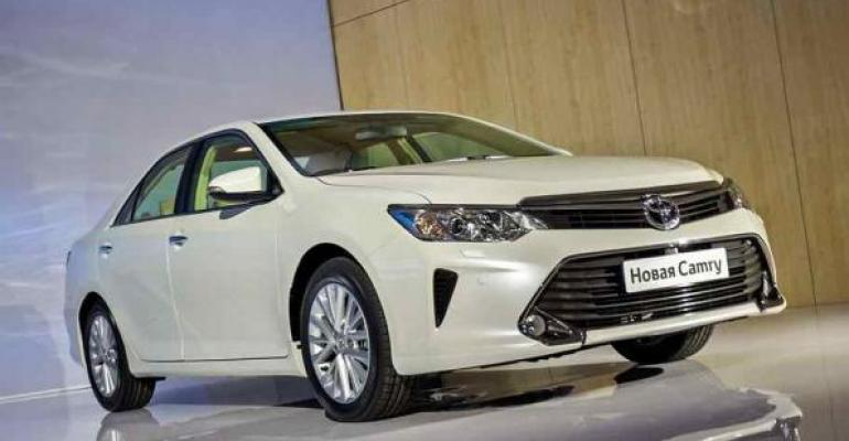 Toyota hoping new Camry will boost competitiveness in Russia
