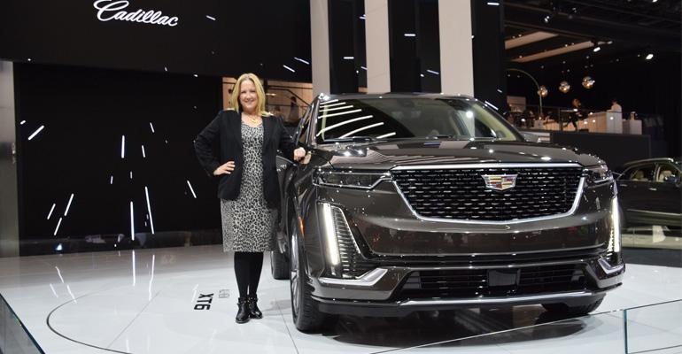 Cadillac marketing chief Wahl, Cadillac XT6 in Detroit.
