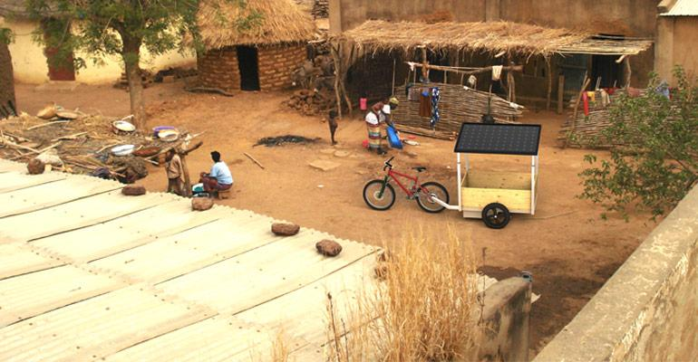 Rendering of Afreecar proof-of-concept in African village.