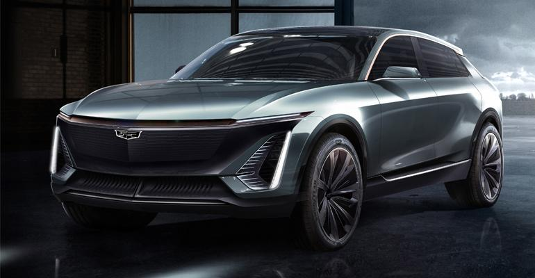 Future Cadillac battery-electric vehicle.