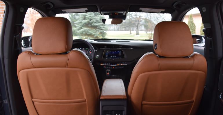 Cadillac XT4 interior view