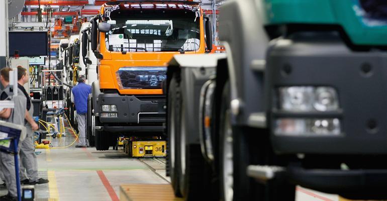 MAN truck Munich