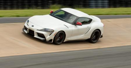 2020 Toyota Supra on track