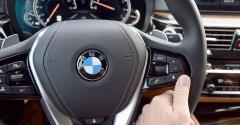 BMW 640i steering wheel