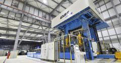Hot-stamp press at heart of Gestamp's Japanese plant.