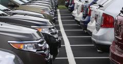 Cars at dealership