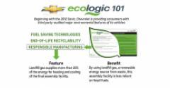 New Chevrolet ecologic sticker from Chevrolet