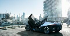 Scissor doors and seating for three with Nissanrsquos BladeGlider concept