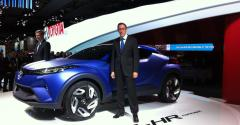 Toyota Europe executives Didier Leroy left Karl Schlicht with CHR Concept