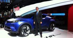 Toyota Europe executives Didier Leroy left Karl Schlicht with CHR Concept