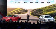 Toyota CEO Akio Toyoda debuts 3918 Camry at Detroit auto show