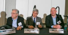 Robert Eller from left Adriano Odino and Tony Tognetti field questions after panel session