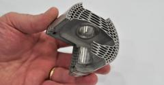 Honeycomb lattice can make 3Dprinted gasoline piston lightweight and strong while integrating cooling channel near crown