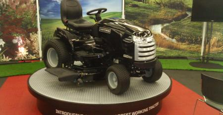 Craftsman CTX tractor display at North American International Auto Show in Detroit