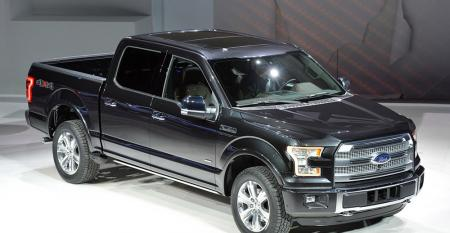 New F150 up to 700 lbs lighter than currentgeneration truck which has a traditional steel body