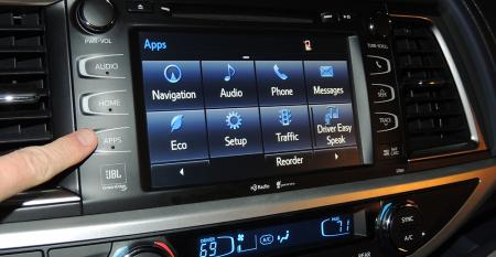 FEV wants to benchmark performance of infotainment systems such as this one on new Toyota Highlander