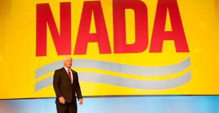 Carlson at inaugural speech as 2016 NADA chairman
