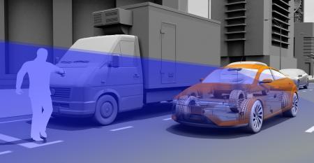 Continental can use stereo camera shortrange lidar or mono camera for pedestrian protection