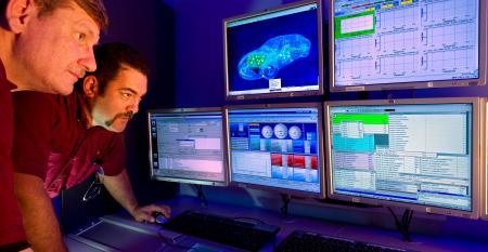 GM Powertrain engineers evaluate engine data