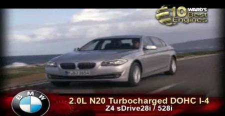 Ward's 10 Best Engines: BMW 2.0L N20 Turbocharged DOHC I-4