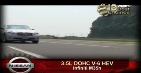Ward's 10 Best Engines: Nissan 3.5L DOHC V-6 HEV