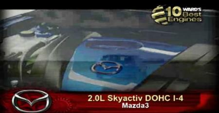 Ward's 10 Best Engines: Mazda 2.0L Skyactiv DOHC I-4
