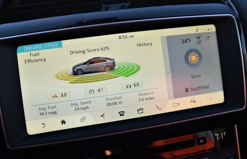jag xf coaches drivers to achieve optimum efficiency from 2 0l ingenium