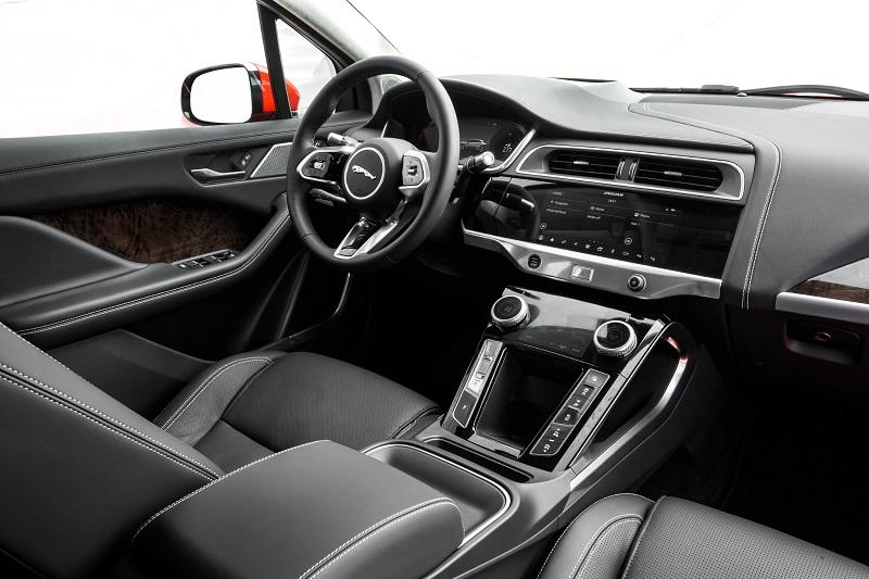 I-Pace interior luxurious, high tech.