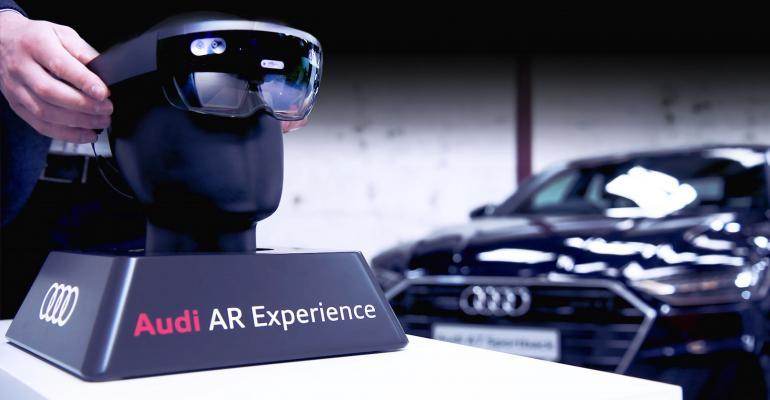 Audi offering augmented reality in three Irish showrooms.
