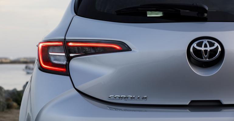 Corolla hatch rear