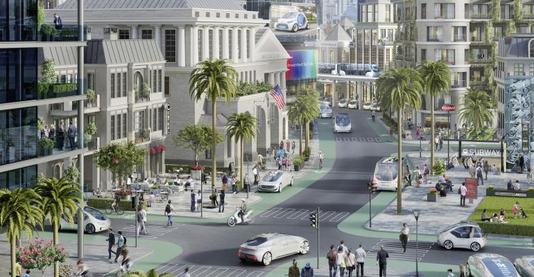 Automaker, supplier envision several connected urban-mobility platforms.