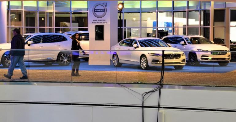 Dealer display Volvo Cars' only presence at 2018 North American International Auto Show.