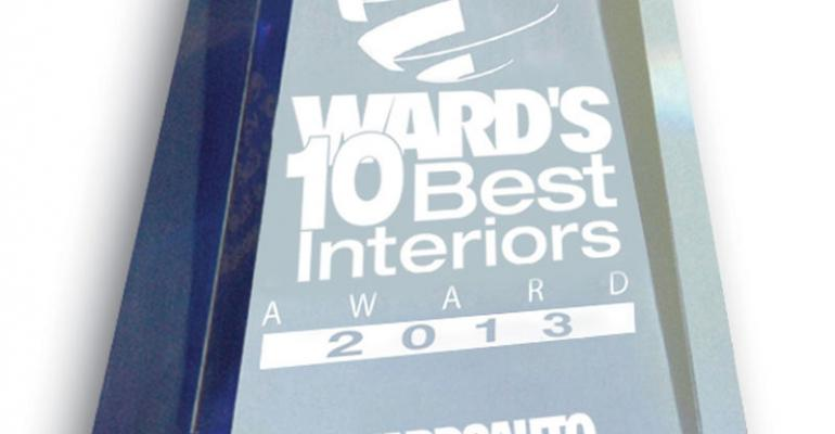2013 Ward's 10 Best Interiors Winners