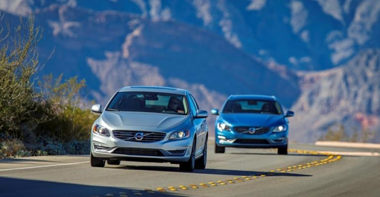 3915 Volvo S60 sports sedan and V60 wagon come available with two 4cyl forcedinduction engines
