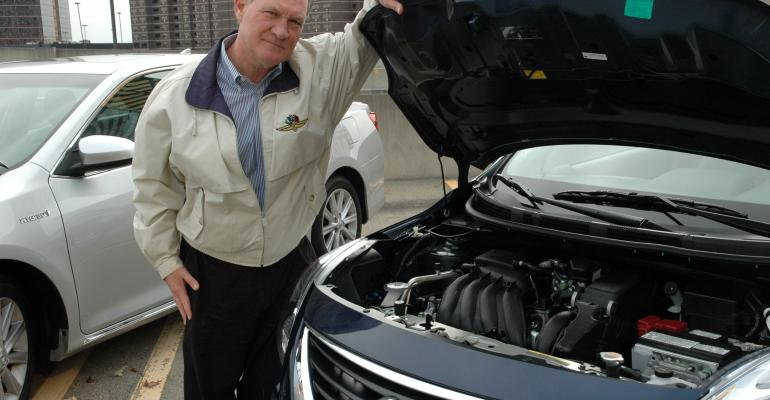 Judge Finlay checks out Nissan Versa engine technology