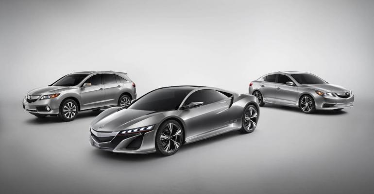 Acura unveils NSX ILX RDX concepts