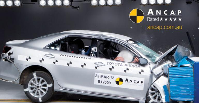 rsquo12 Toyota Aurion scored top rating in March frontalcrash test
