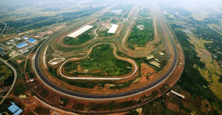 Proving ground features oval track long straightaway ride and handling loop noiseevaluation road and variety of test areas