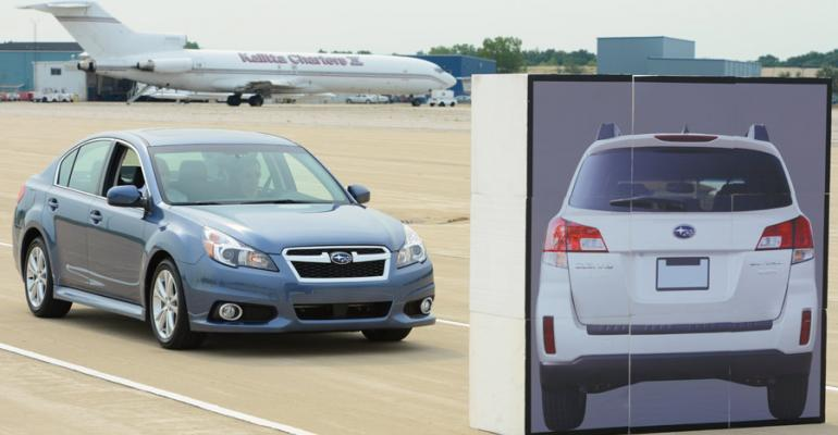 EyeSight brings Legacy to full stop without driver touching brake pedal
