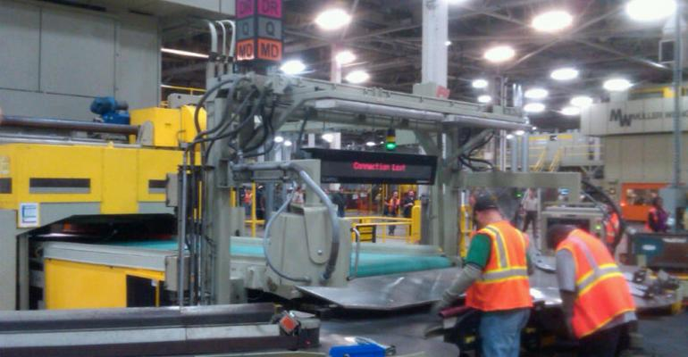 Pontiac Metal Center employees sort stampings bound for GMrsquos Oshawa ON Canada assembly plant