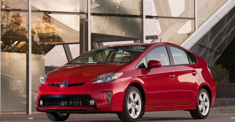 Prius topselling nameplate in crucial California market in 2012