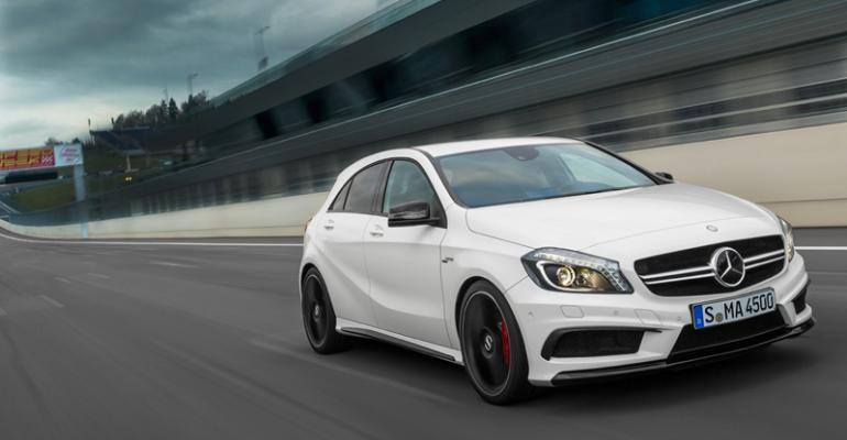 AClass 5door engineered to outperform rivals such as Audi RS3 and BMW 1M coupe