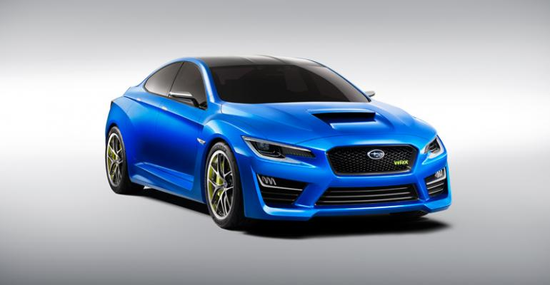 WRX Concept hints at production model expected next year