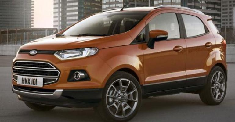 Ford studying whether to offer EcoSport Bsegment CUV in US