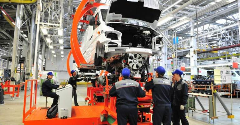 Sprinter in production at GAZ plant